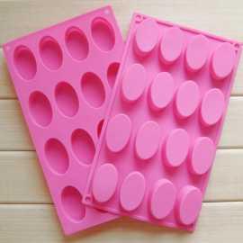Silikonová forma na mýdlo ovály 16 ks