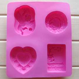 Silikonová forma na mýdlo 4 v 1 I.