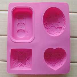 Silikonová forma na mýdlo 4 v 1 II.