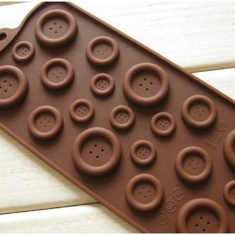 Silikonová forma na mýdlo knoflíky
