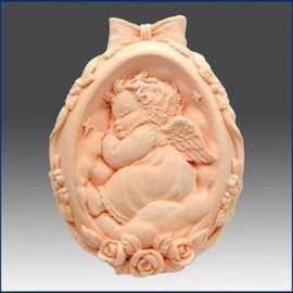 Silikonová forma na mýdlo spící andílek
