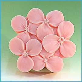 Silikonová forma na mýdlo květy III.