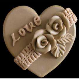 Silikonová forma na mýdlo srdíčko Love VI.