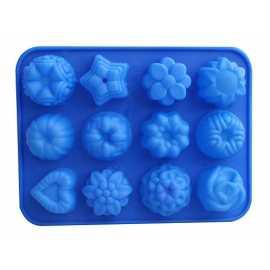 Silikonová forma na mýdlo mix 12 ks
