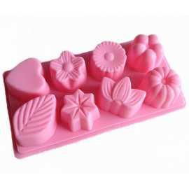 Silikonová forma na mýdlo mix 8 ks