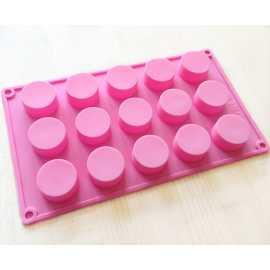 Silikonová forma na mýdlo kruhy 15 ks