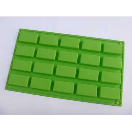 Silikonová forma na mýdlo obdélníky 20 ks