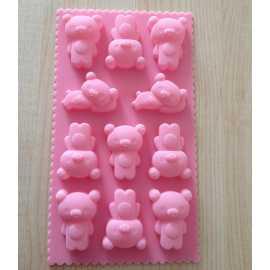 Silikonová forma na mýdlo malí medvídci
