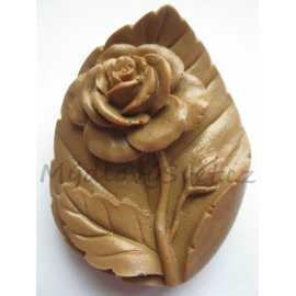 Silikonová forma na mýdlo růže na listu