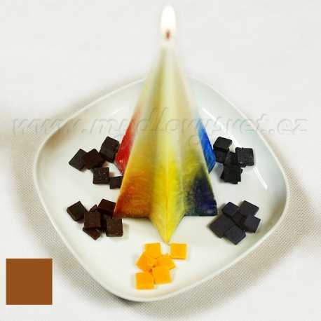 Barva na svíčky - hnědá kakaová 5g