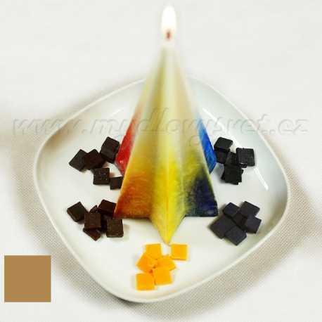 Barva na svíčky - hnědá karamelová 5g