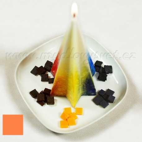 Barva na svíčky - lososová 5g