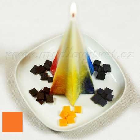 Barva na svíčky - oranžová 5g