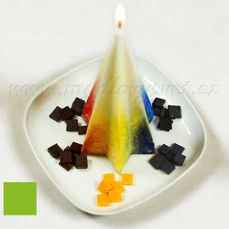 Barva na svíčky - zelené jablko 5g