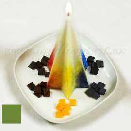 Barva na svíčky - zelená olivová 5g