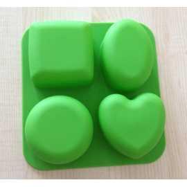 Silikonová forma na mýdlo 4 v 1 V.