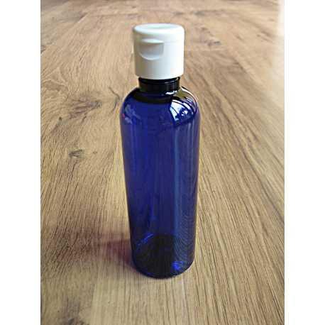 PET láhev s odklápěcím uzávěrem 100 ml - modrá