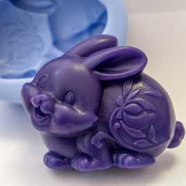 Silikonová forma na mýdlo králíček II,