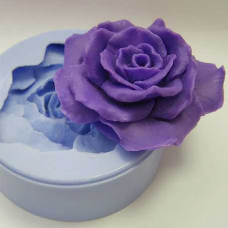 Silikonová forma na mýdlo a svíčku 3D růže II.