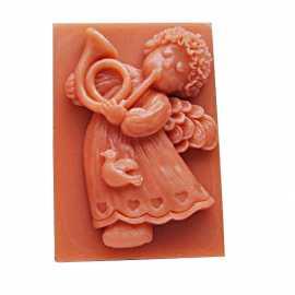 Silikonová forma na mýdlo andílek s trumpetou