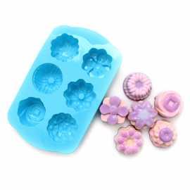 Silikonová forma na mýdlo mix 6ks