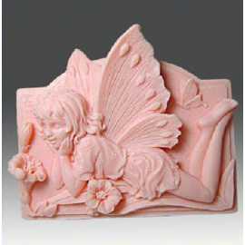 Silikonová forma na mýdlo ležící víla