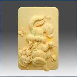 Silikonová forma na mýdlo veselý králíček