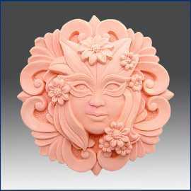 Silikonová forma na mýdlo dáma s maskou