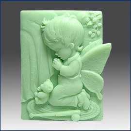 Silikonová forma na mýdlo andílek chlapeček II.
