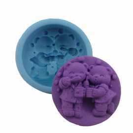 Silikonová forma na mýdlo méďové s bublinami