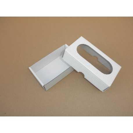 Dárková krabička z vlnité lepenky BÍLÁ 12x7x3,5cm