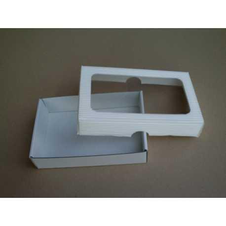 Dárková krabička z vlnité lepenky BÍLÁ 15x10x3,5cm