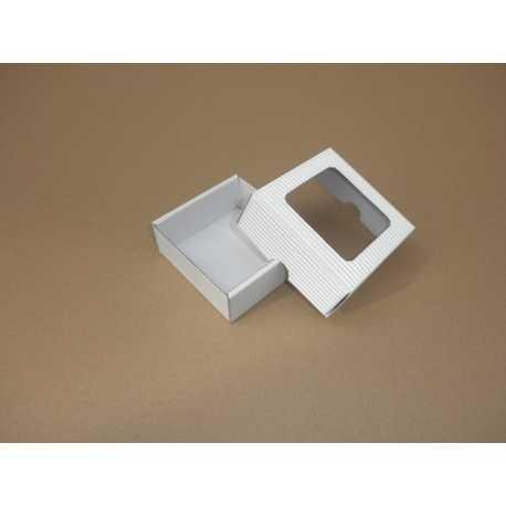 Dárková krabička z vlnité lepenky BÍLÁ 9x9x3,5cm