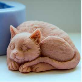 Silikonová forma na mýdlo 3D kočička