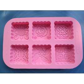 Silikonová forma na mýdlo ornamenty čtverce II.