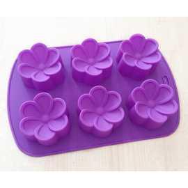 Silikonová forma na mýdlo kytičky 6ks