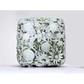 Silikonová forma na mýdlo kytičkový čtverec