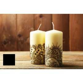 Barva na malování svíček - černá 5g