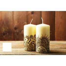 Barva na malování svíček - bílá 5g
