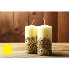 Barva na malování svíček - žlutá 5g