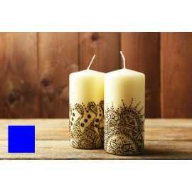 Barva na malování svíček - modrá 5g