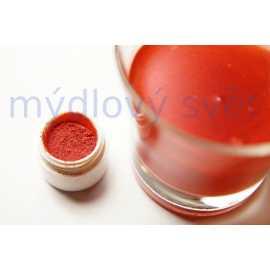 Metalická červená barva do kosmetiky 10g