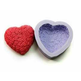 Silikonová forma na mýdlo růžičkové srdce