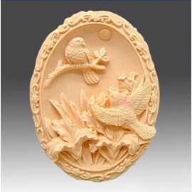 Silikonová forma na mýdlo ptáci
