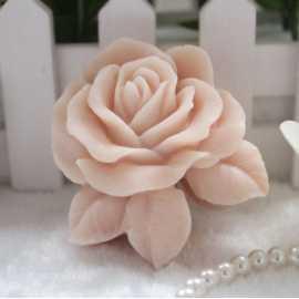 Silikonová forma na mýdlo růže s lístky