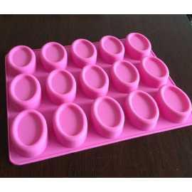 Silikonová forma na mýdlo ovály 15 ks
