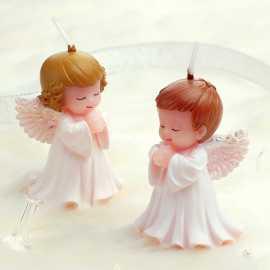 Silikonová forma na mýdlo a svíčku 3D andílci - 2ks