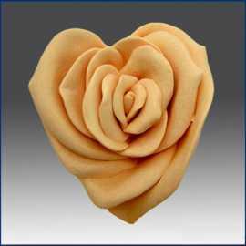 Silikonová forma na mýdlo srdce - růže