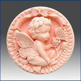 Silikonová forma na mýdlo andílek s motýlkem