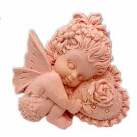 Silikonová forma na mýdlo amorek holčička